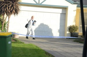 The forensic team left the house on Friday morning following the grim discovery. 103412_27 Picture: DONNA OATES