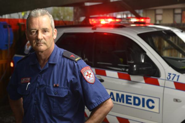 Peter Simpson has been a paramedic for more than 30 years. 118441 Picture: ROB CAREW