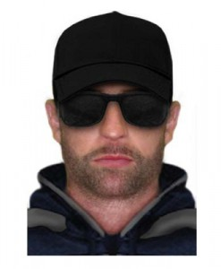A police image of the man suspected of murdering Kylie Blackwood.