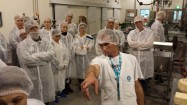 CSIRO technician Michael Mazenetto with some of the visiting Gippslanders at CSIRO's Food Innovation Centre.
