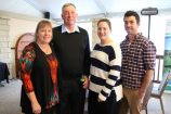Among those at the GippsDairy AGM were Fish Creek Focus Farmers Graeme, Jenny, Sharna and Shaun Cope.