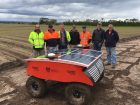 Growers, including Clyde farmers Adam, Darren and Chris Schreurs, attended field trials and learning about the robot and sensing systems in vegetable production with researchers at Clyde.
