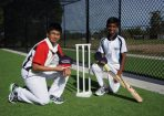 Andrey Fernando and Ashley Chandrasinghe are two of Berwick Grammar School&#039;s cricket stars set to get great use from the school&#039;s new cricket nets. 98952 Picture: JARROD POTTER