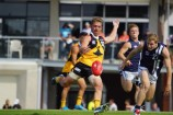 Lachlan Batten - pictured streaming through the centre against Geelong - will return to TAC Cup action this weekend against Northern Knights - six weeks after injuring his bicep. 137231 Picture: JARROD POTTER