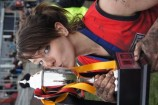 Hannah Scott celebrating Hallam's 2012 VWFL South East Division premiership victory. 85994 Picture: JARROD POTTER