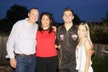 The White family - Rob, Belinda, Brandon and Brandon's girlfriend Lily - celebrated on Tuesday night as the Beaconsfield/Dandenong defender was selected by St Kilda. 147549