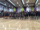 For little Eli - the Pakenham Warriors community stood as one to pay its respect to young Eli Kent who tragically passed away recently. Picture: PAKENHAM WARRIORS FACEBOOK