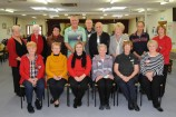 At their AGM are members, rear, Ruth Smith, Martha Walgers, Carmel Malpera, Mike Wall, Alan Spencer, Henry Berry, Elaine Thornton, Alan Potter and Rosemary Hanley. At the front are Mary Wall, Fay Potter, Mayor Jodie Owen, Betty Koopman, April Burley and Maureen Martin. 158216