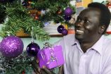 Riak Kiir is looking forward to a fortnight of Christmas celebrations in the Sudanese tradition. 162435 Picture: STEWART CHAMBERS